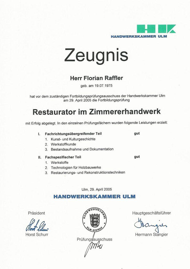 Urkunde-Restaurator