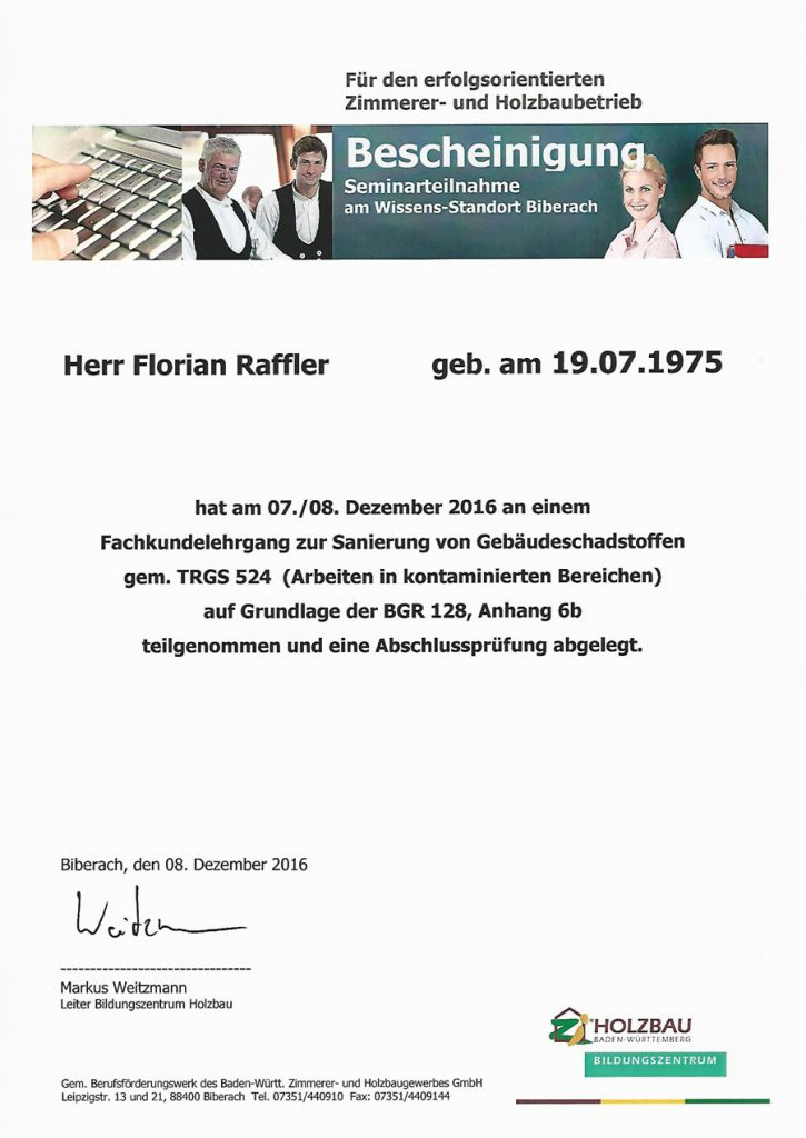 Urkunde-Schadstoffe-TRGS-524